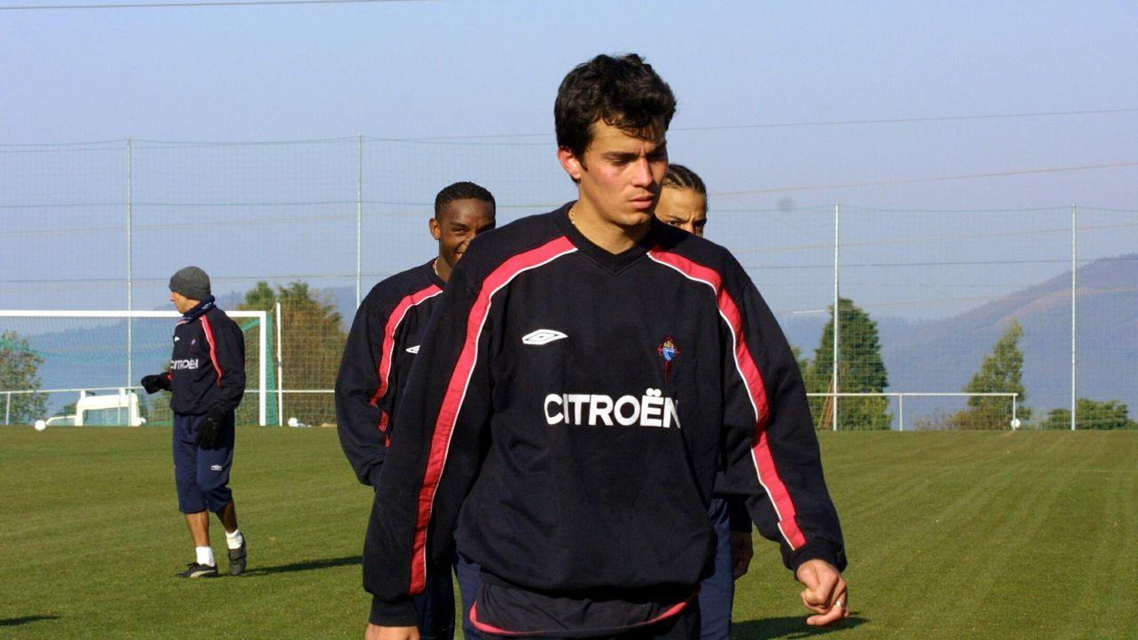 Kaviedes, durante su etapa como jugador del Celta