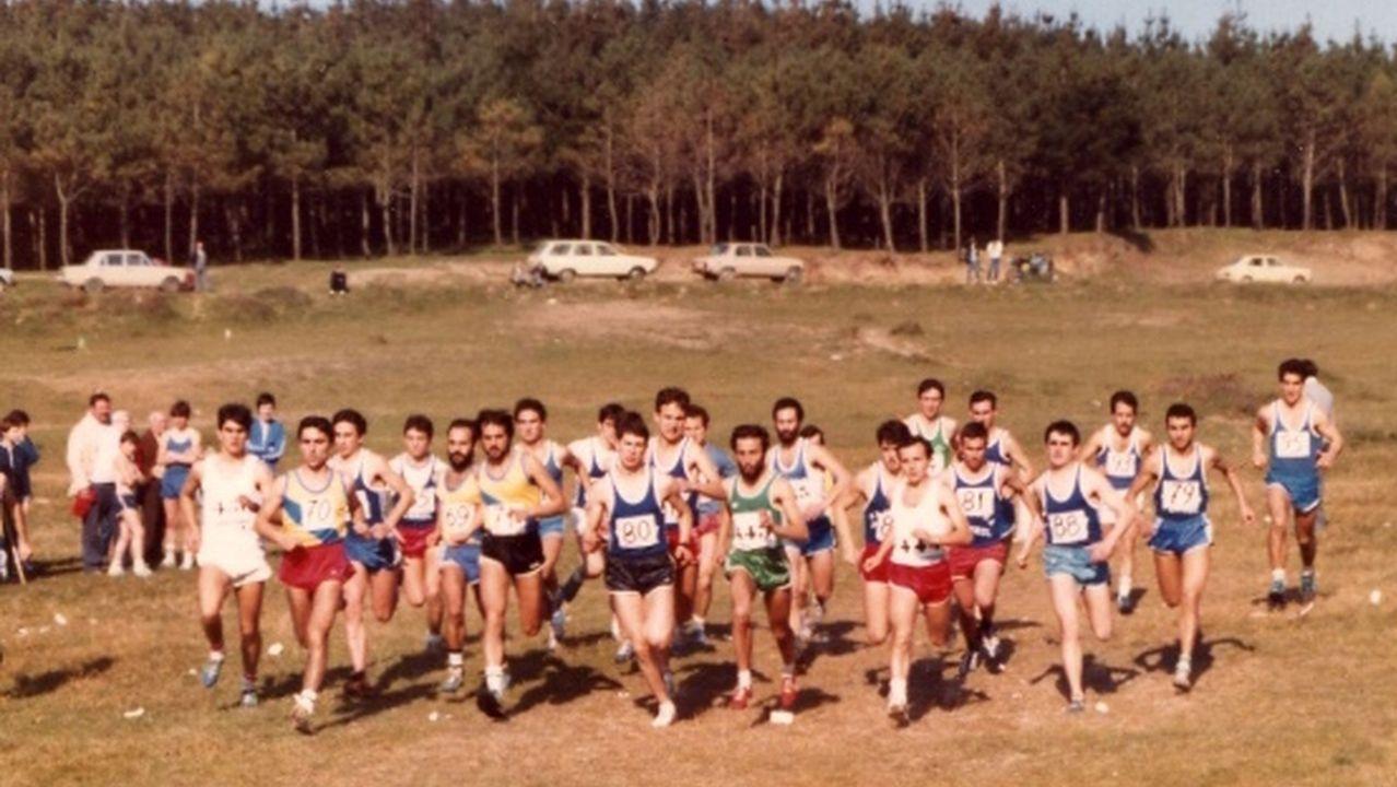 Disputa de un Trofeo Joaquín Romero de Campo a Través, con Rafa Pardo en el grupo de cabeza
