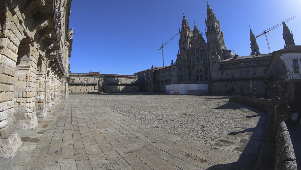 Praza do Obradoiro (Santiago de Compostela).