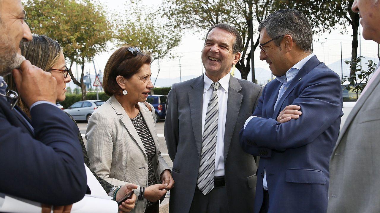 La teniente de alcalde, Elena Espinosa, con el alcalde, Abel Caballero.