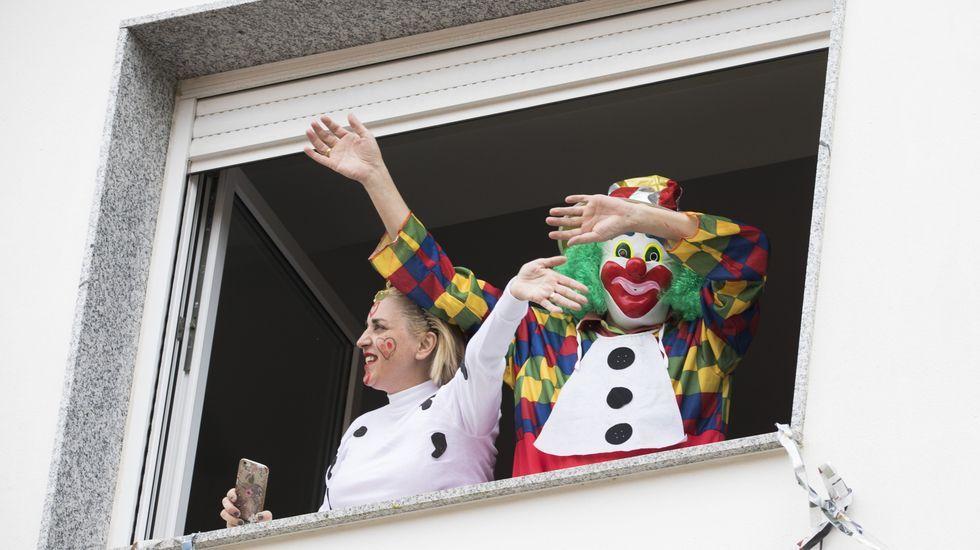 Los peques disfrutaron del carnaval organizado por los vecinos de Vimianzo.Fuso de la Reina, Oviedo