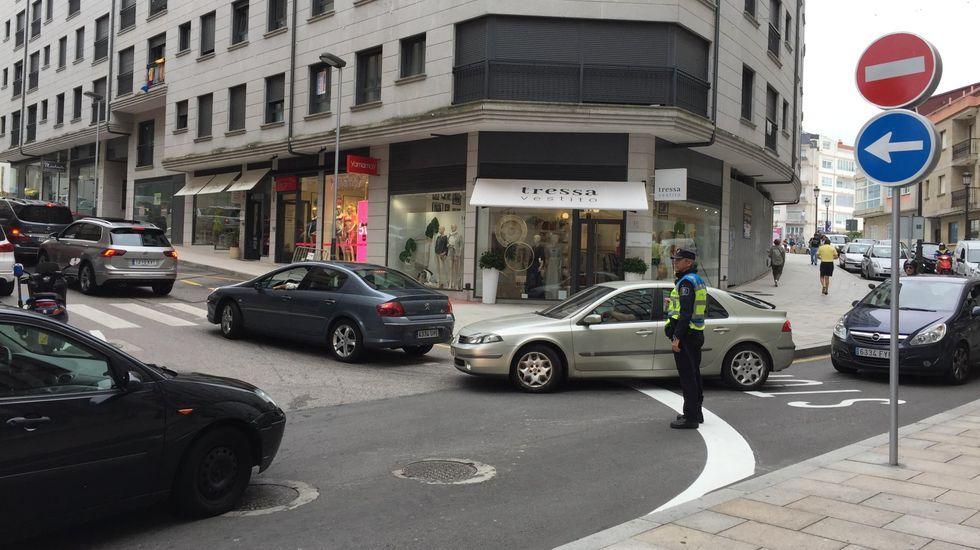 alicia asin.Momentos después del atropello, que tuvo lugar en la calle Azcárraga de Oviedo