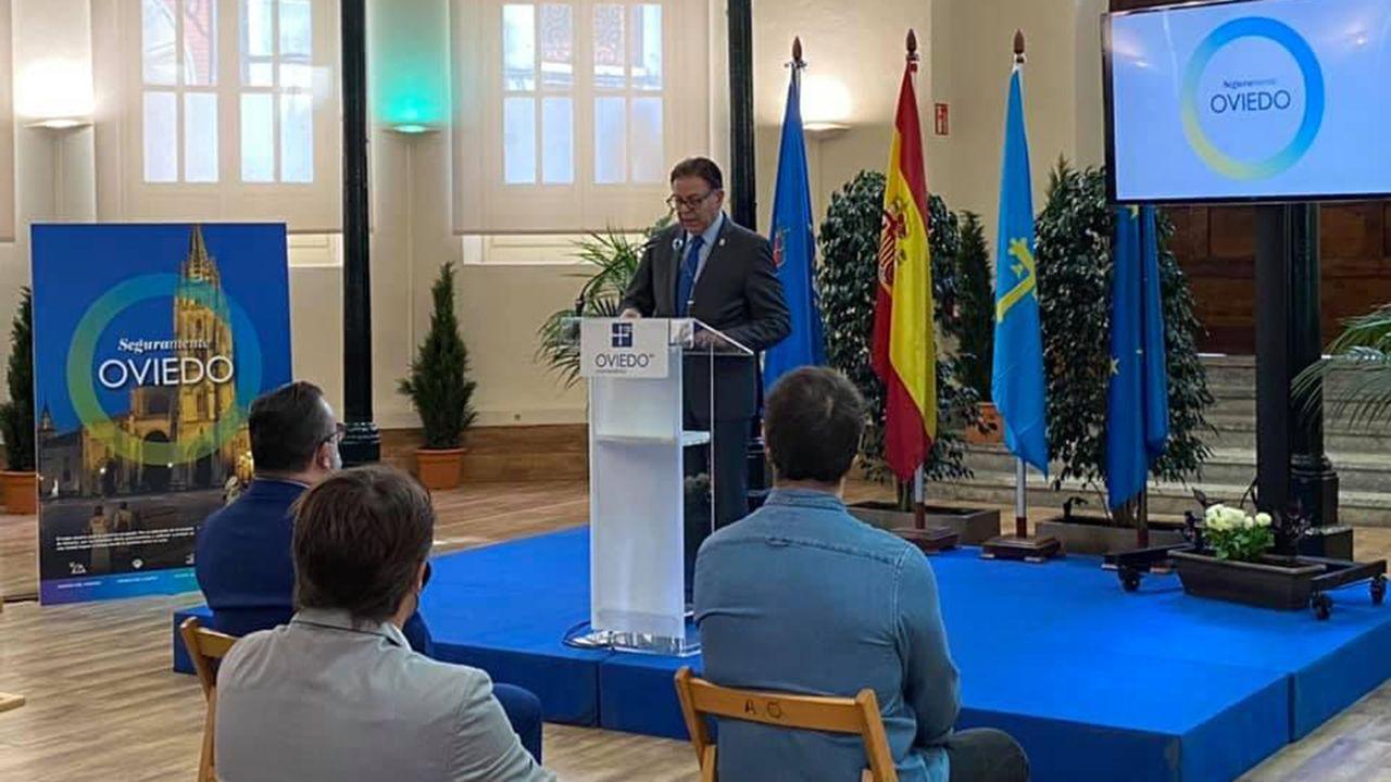 Alfredo Canteli, alcalde de Oviedo, presenta la campaña «Seguramente Oviedo»