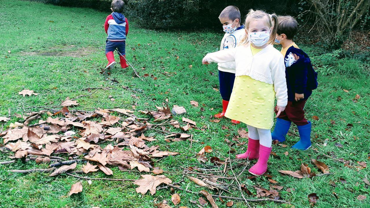 El colegio Os Casais de Fene cuenta con un bosque en el que los niños aprenden y juegan en contacto con la naturaleza