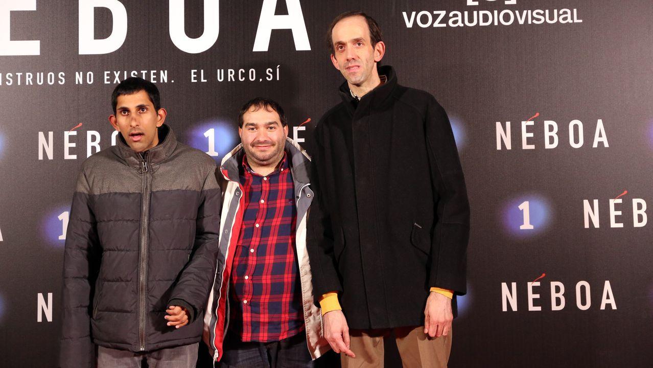 Tres de los actores de la película «Campeones»
