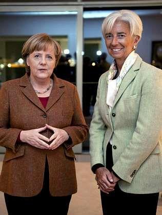 Merkel y Lagarde se reunieron ayer para hablar de Grecia.