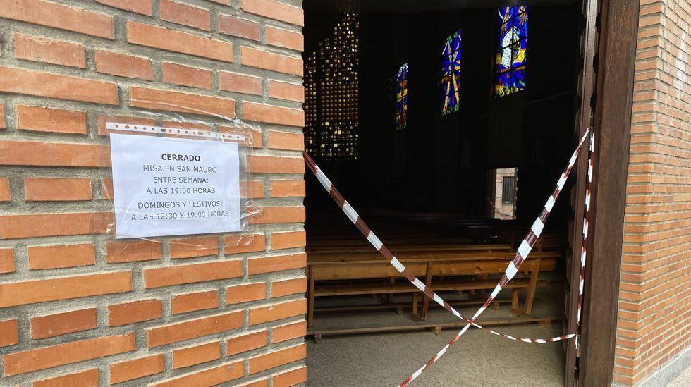 La iglesia de Santa Rita en O Barco está cerrada desde la primera mitad de febrero