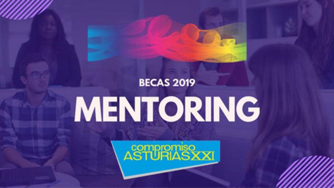 Cartel promocional del programa mentoring de la asociación Compromiso Asturias XXI