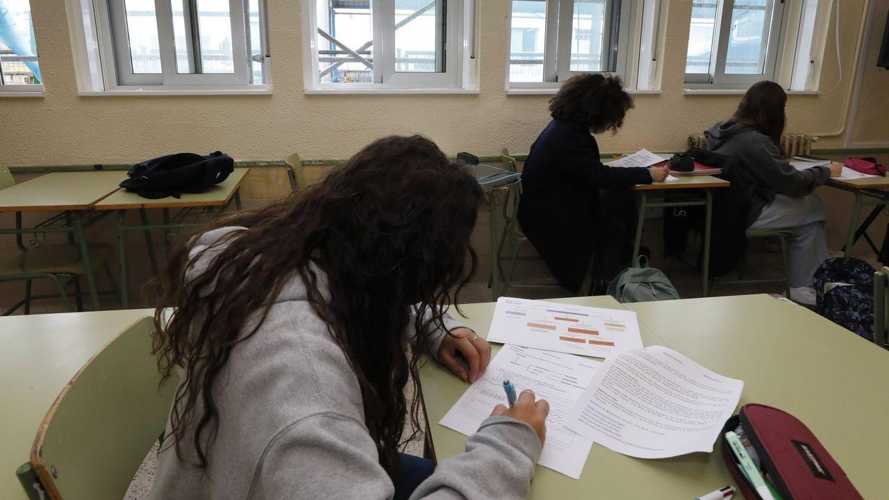 Alumnos de FP haciendo prácticas