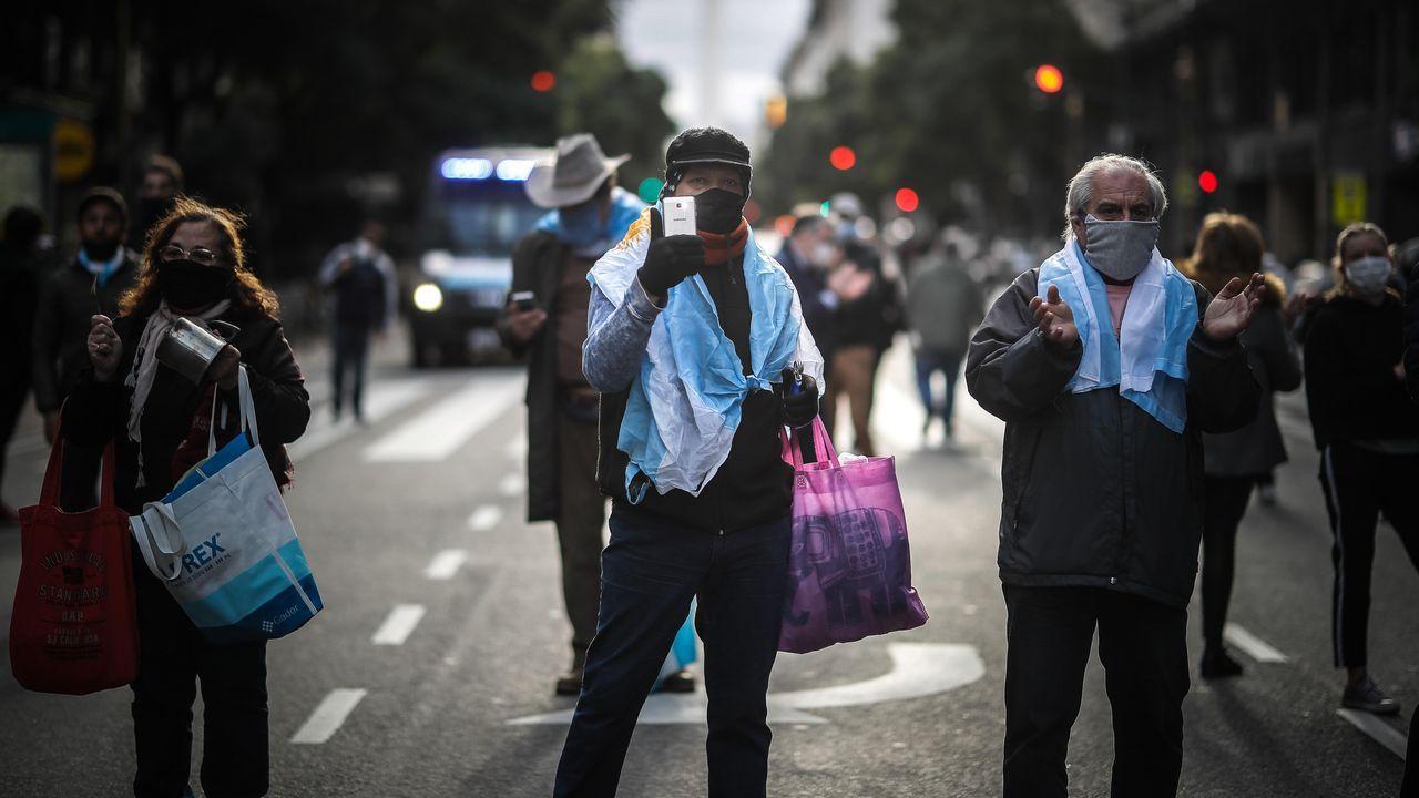 En Buenos Aires hubo ayer manifestaciones contra la cuarentena