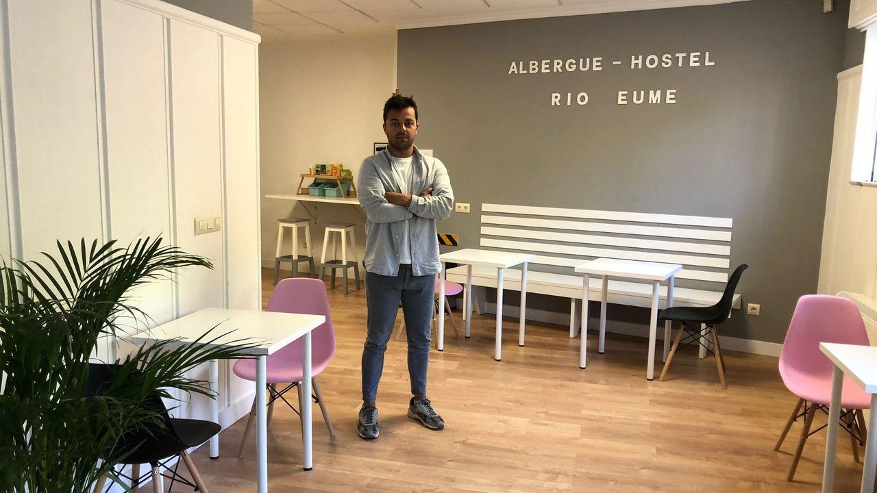 Sergio Iglesias se encuentra al frente del albergue-hostel Río Eume de Pontedeume