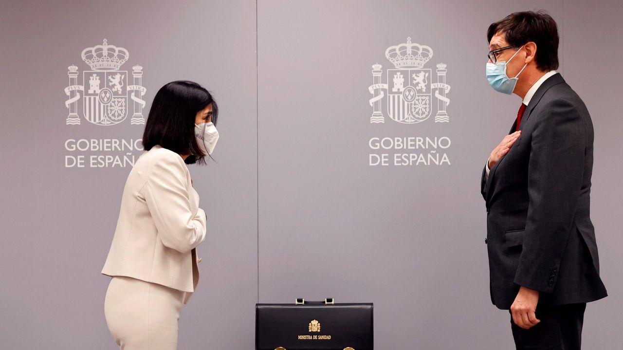 Carolina Darias asume el cargo de ministra de Sanidad, el pasado 27 de enero, mientras que el ya exministro Salvador Illa pasa a liderar la candidatura socialista a la Generalitat para las elecciones del 14 de febrero