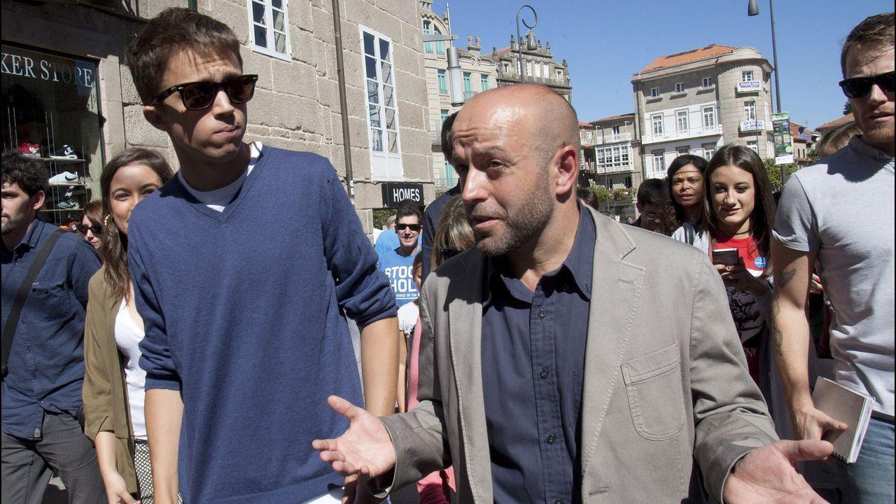 Errejón: «Cada escaño que saquemos será para el acuerdo».Íñigo Errejón y Villares, durante una visita a Pontevedra en el 2016