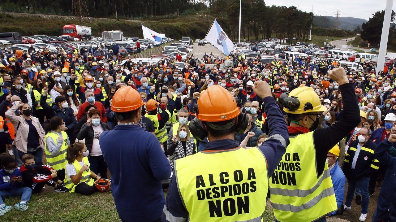 Una de las últimas protestas el pasado domingo con estudiantes en San Cibrao