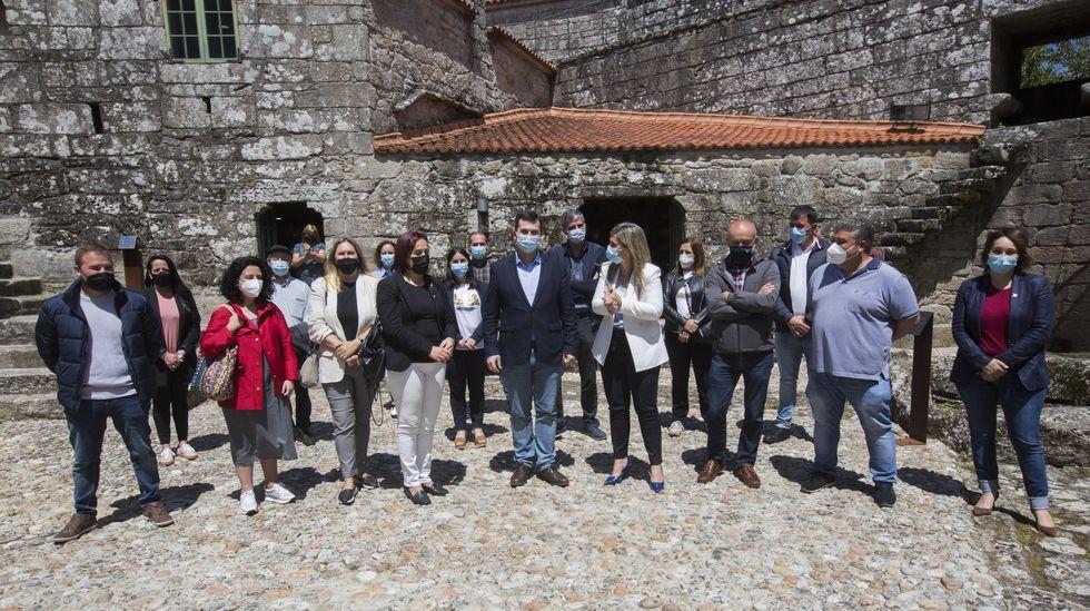 Visita de Gonzalo Caballero a Xinzo de Limia