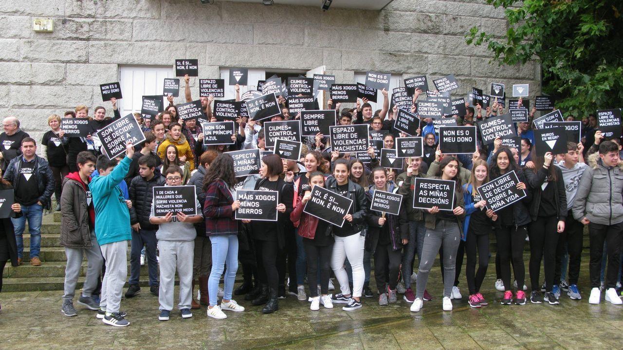 Asturias da la cara contra la violencia de género