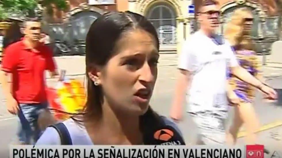 La chica valenciana que fingió no saber valenciano
