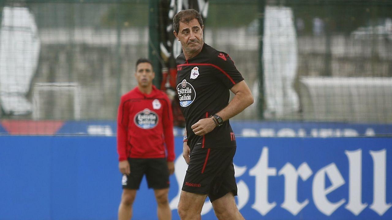 Bernardo Tapia, en un entrenamiento