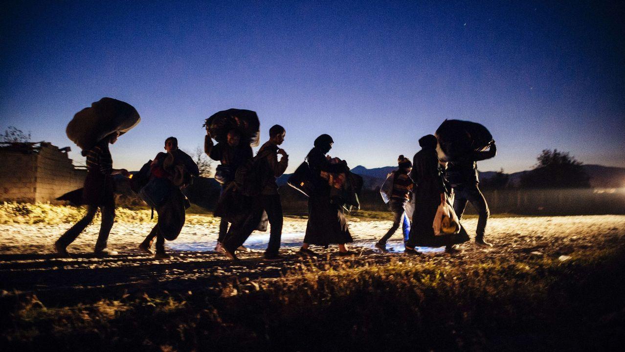 Polémica actuación de la Policíaen el Tarajal.Exposición «Eclipse Sirio» en el Palexco