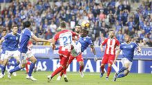 Gol Ibra Real Oviedo Sporting derbi Carlos Tartiere.Ibra remata para adelantar al Real Oviedo ante el Sporting