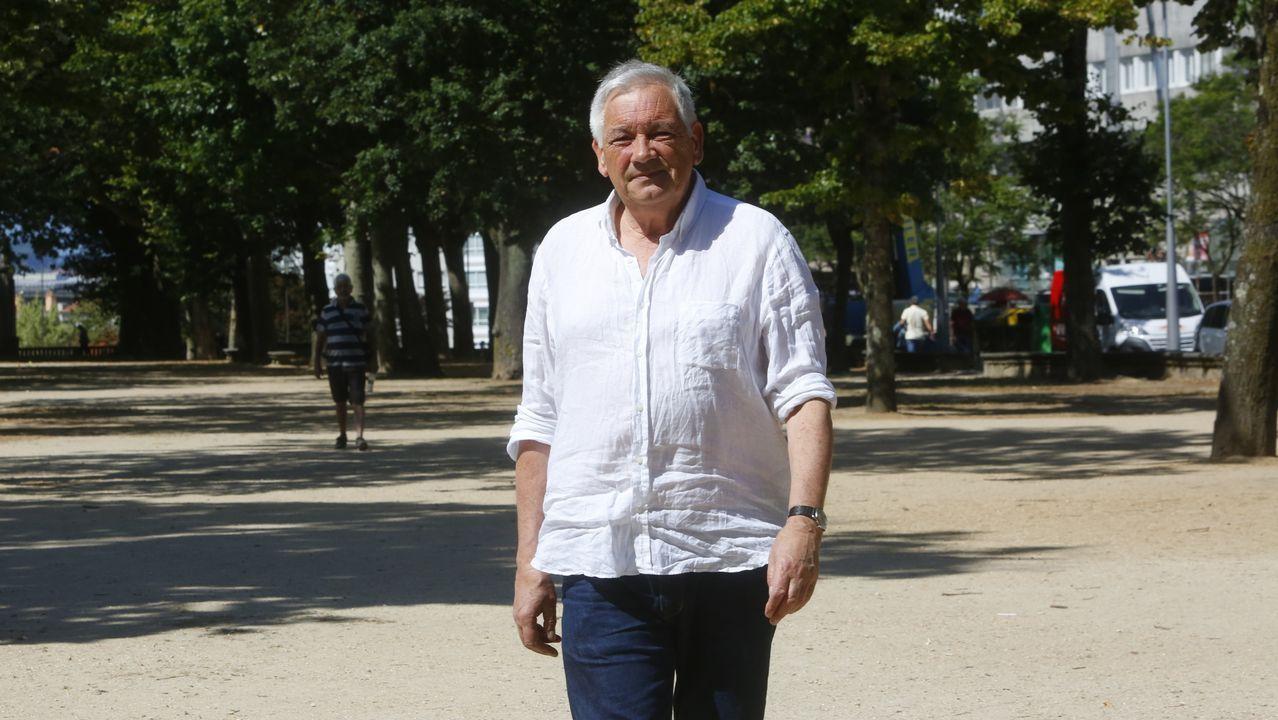 Vázquez fotografado na cidade de Pontevedra, onde reside