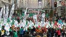 Imagen de la manifestación de los funcionarios de Justicia en Madrid