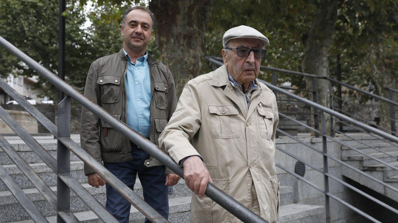 El Calvo Xiria-Carnes do Ribeiro, en imágenes.Alberto Paz Ameijeiras, delante de su hijo Carlos Paz, en una imagen del 2019