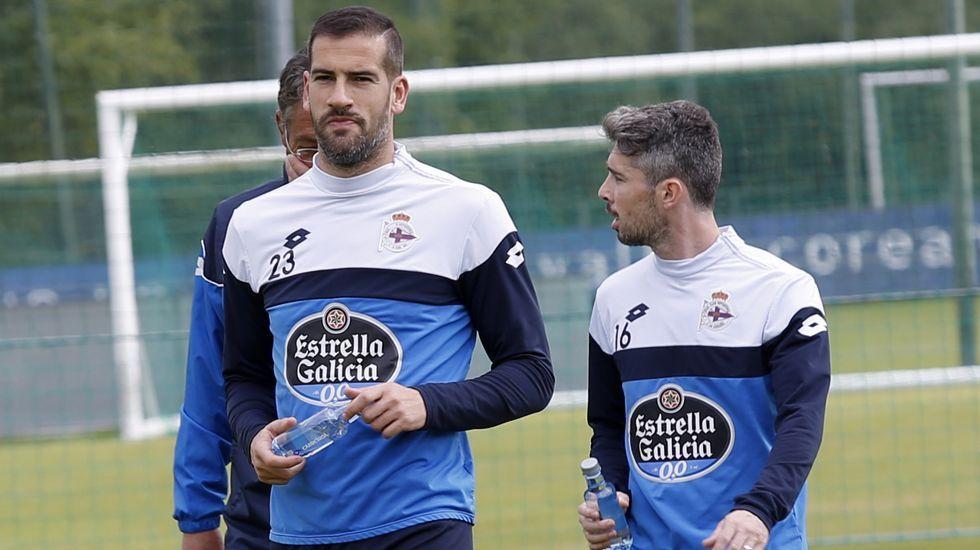 Penúltima sesión a dos días de cerrar la temporada.Zapater y Cani en entrenamientos de su primera y última etapa en Zaragoza