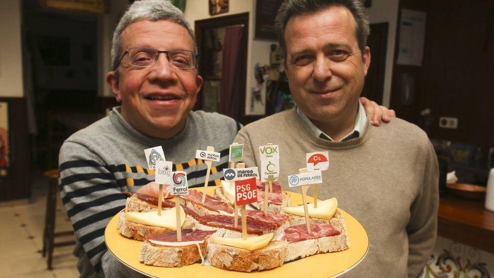 Así votaron los candidatos de Ferrolterra