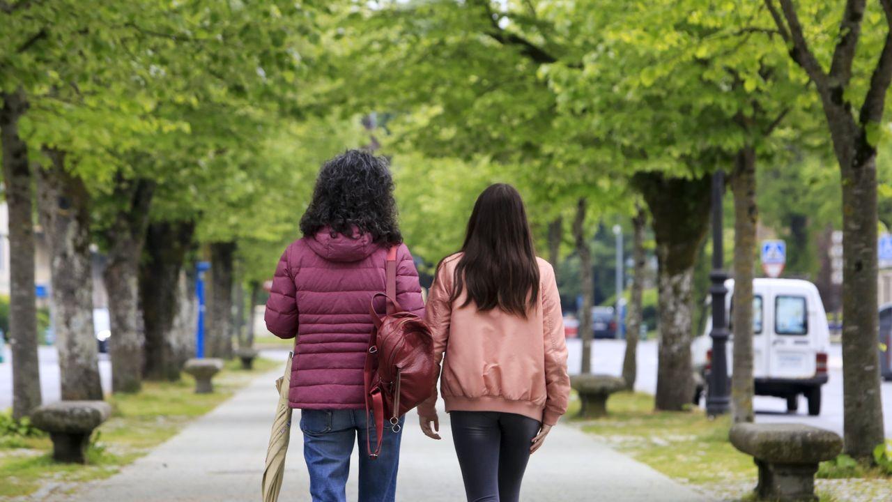 Mili.Los niños lucenses volvieron a salir a las calles de la ciudad