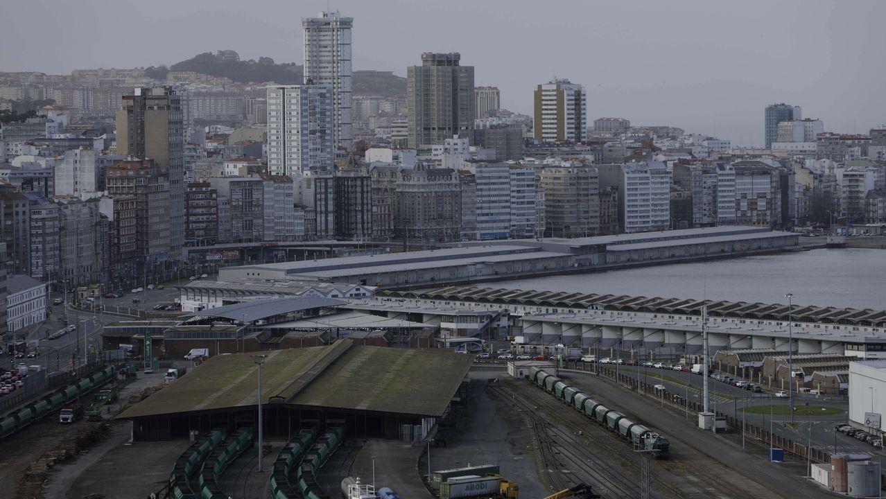 Vistas del puerto de A Coruña