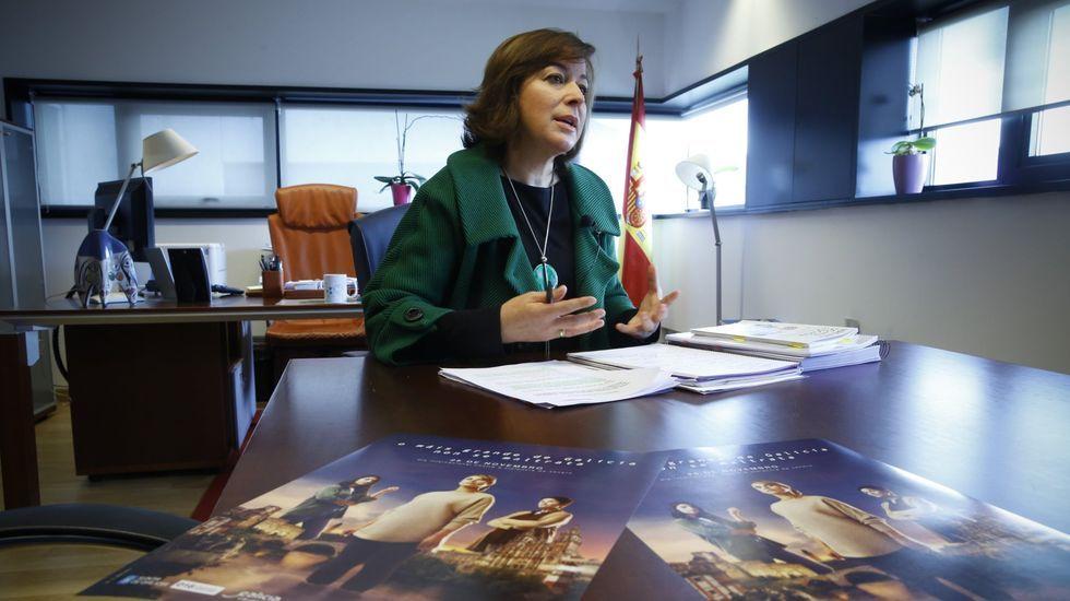 Susana López Abella, en su despacho de la Secretaria Xeral de Igualdade, en una fotografía del año 2017