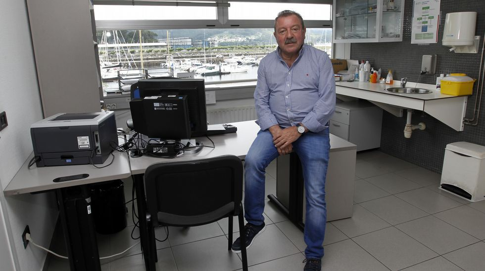 Luis Lema, en el simulacro de naufraxio de 2015