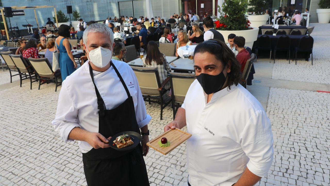 Los chefs de Estrellas Solidarios no Camiño promocionan la gastronomía y el paisaje gallego.Miguel Angel Munoz