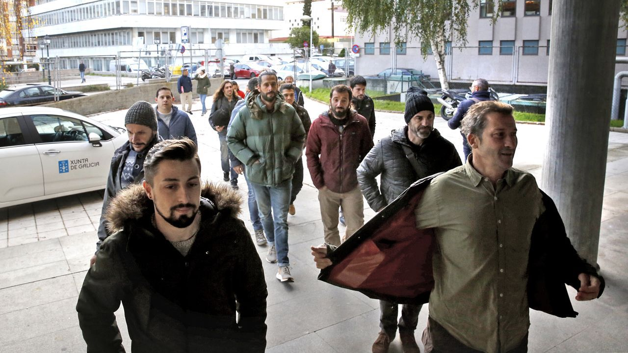 La protesta de los trabajadores de supermercados en Oviedo en el año 2018