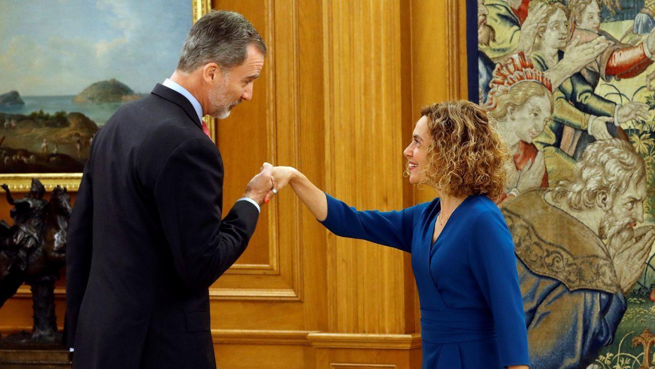 Felipe VI recibe a Meritxell Batet, cuando le trasladó la constitución del Parlamento