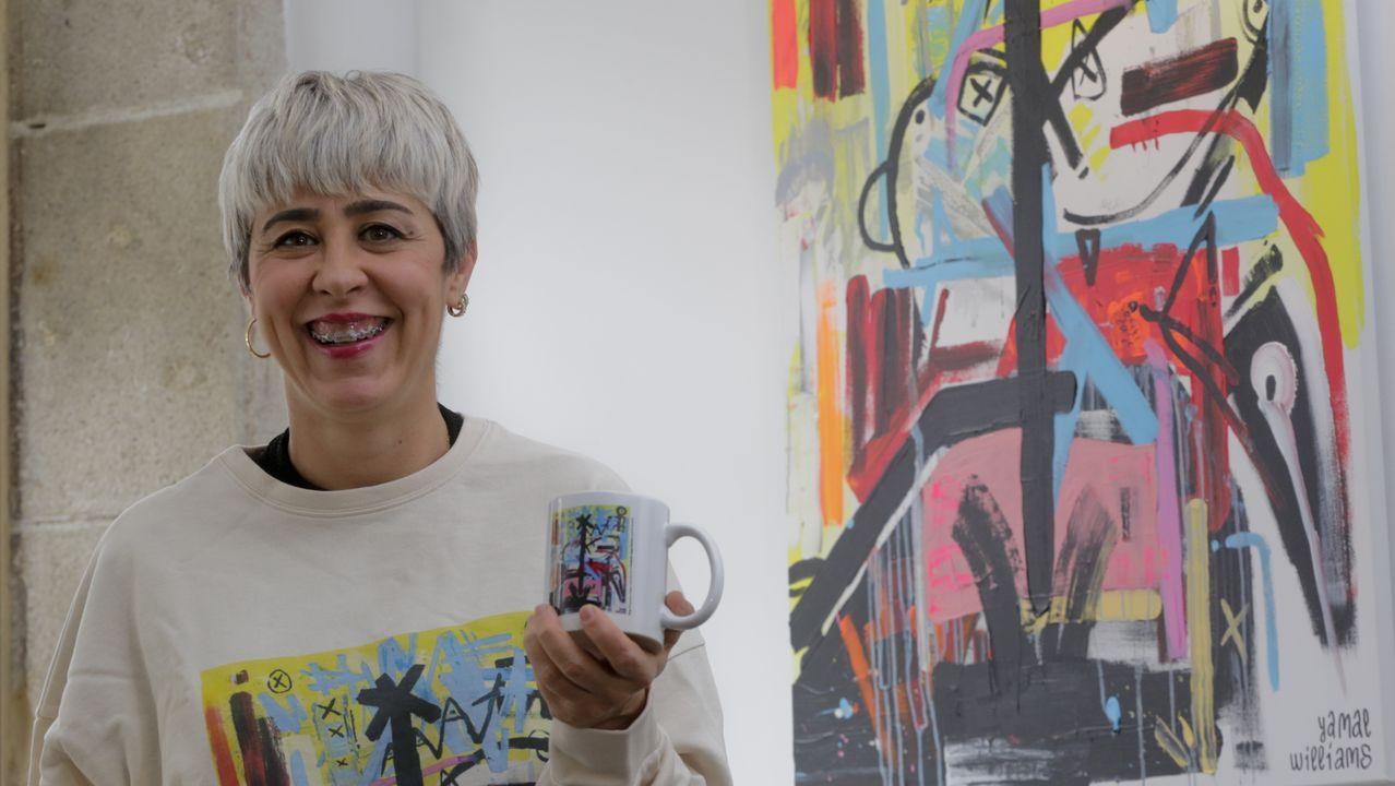 Silvia Méndez, propietaria de la peluquería Pin-Up de A Coruña