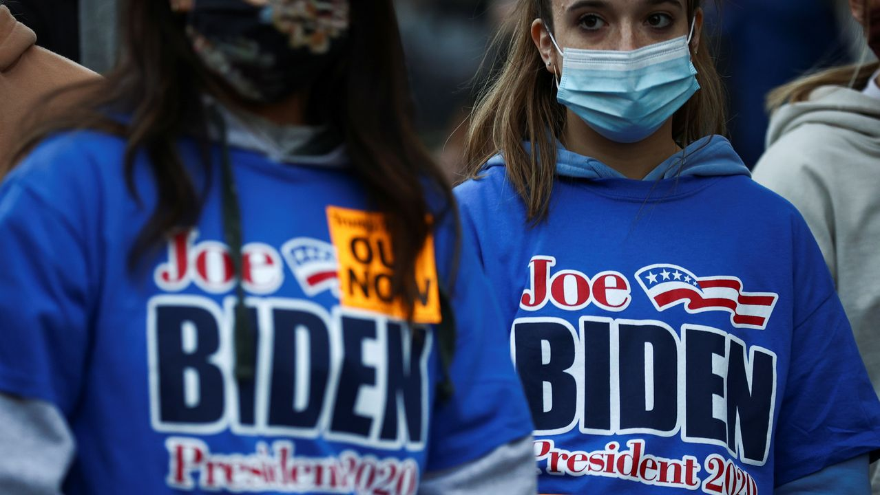 Simpatizantes de Joe Biden