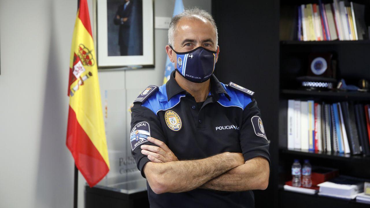 El jefe de la Policía Local de Lugo, Jesús Piñeiro
