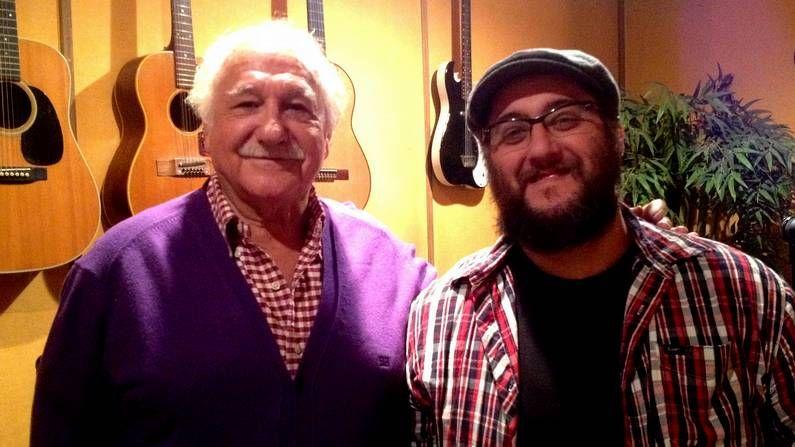 Abril.Ricardo Pachón, productor original de  La leyenda del tiempo , y Juan de Dios Martín