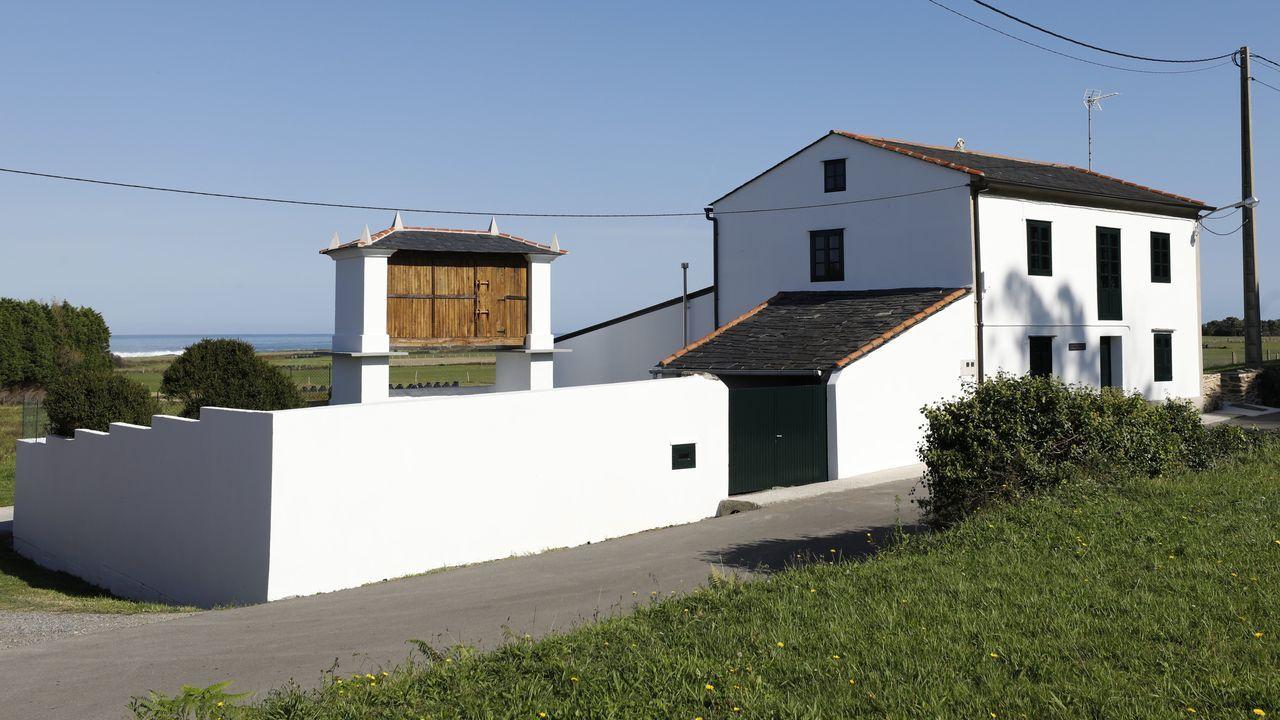Casa de alquiler en Piñeira donde se encontró un alijo de droga de más de 500 kilos.El puente forma hoy parte del tramo Barres-Ribadeo de la A-8, inaugurado en el 2008