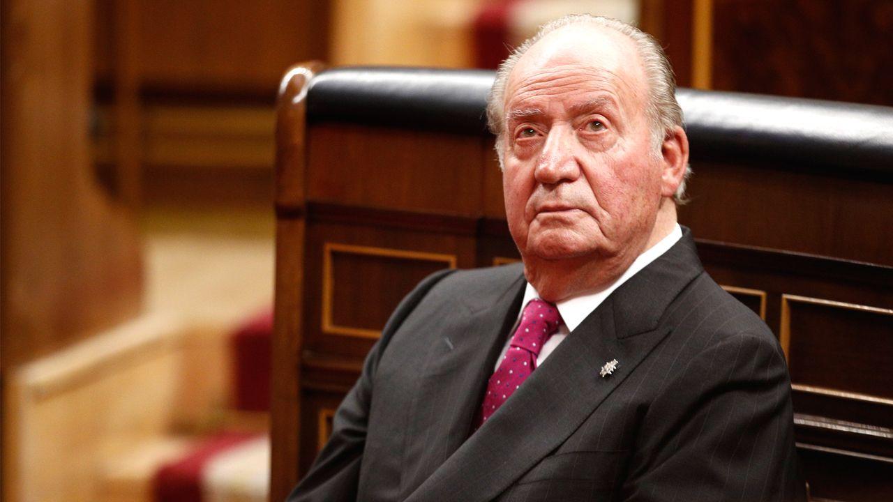 El rey emérito, en el acto conmemorativo del 40 aniversario de la Constitución, en diciembre del 2018