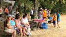 Asistentes a la celebración de la Romaría Labrega da Chaira (en Os Vilares, Guitiriz) hace años