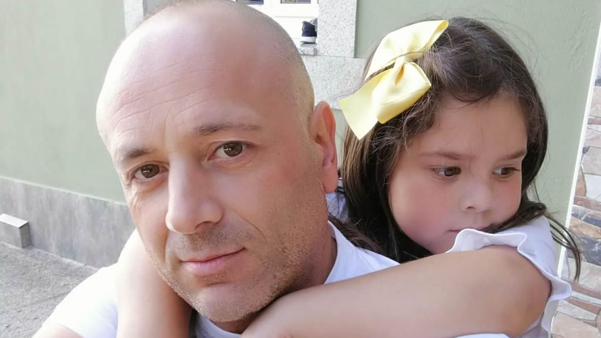José Manuel Leal con su hija Desi