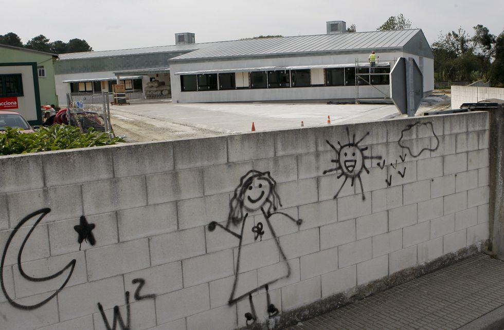 Los escolares del Otero Pedrayo tendrán que convivir con las obras.