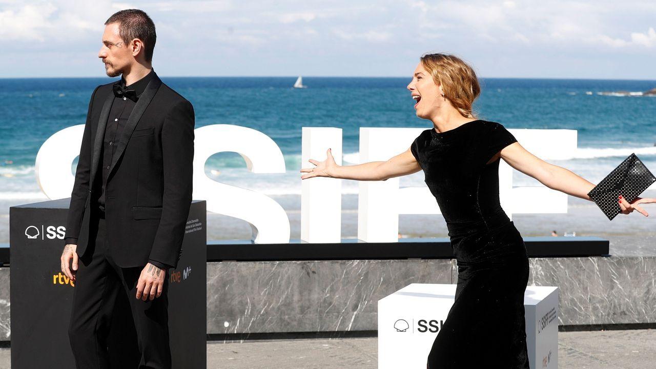 Los actores Sergei Polunin y Laetitia Dosch, en la presentación de «Passion Simple»