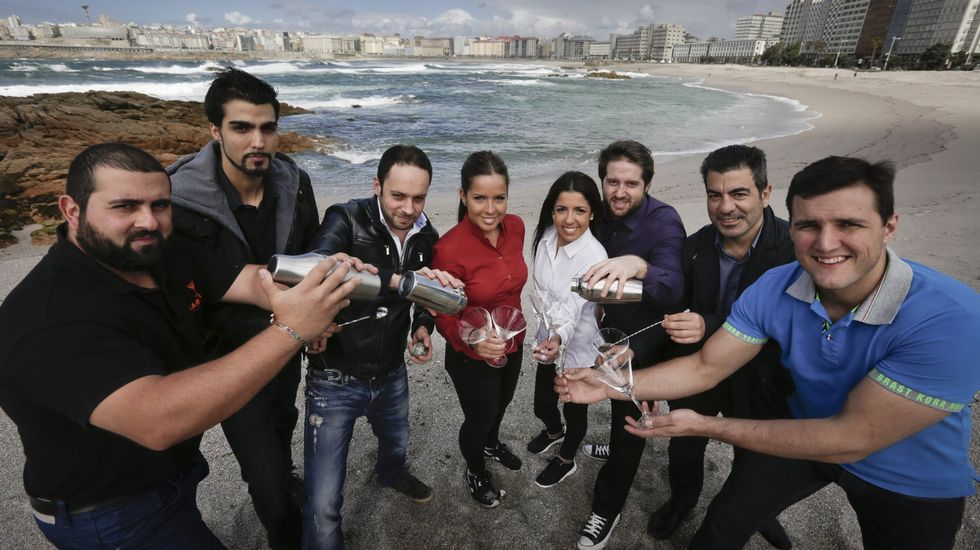Algunos de los bartenders participantes en la última edición del Gastro & Distilled Show celebrado en A Coruña