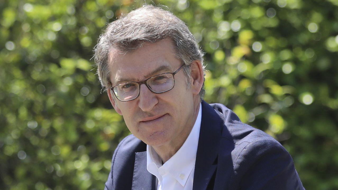 El candidato de los populares a la presidencia de la Xunta, Alberto Núñez Feijoo