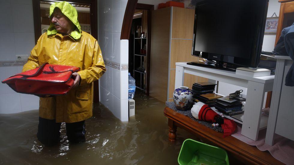 Casa inundada en Sada.
