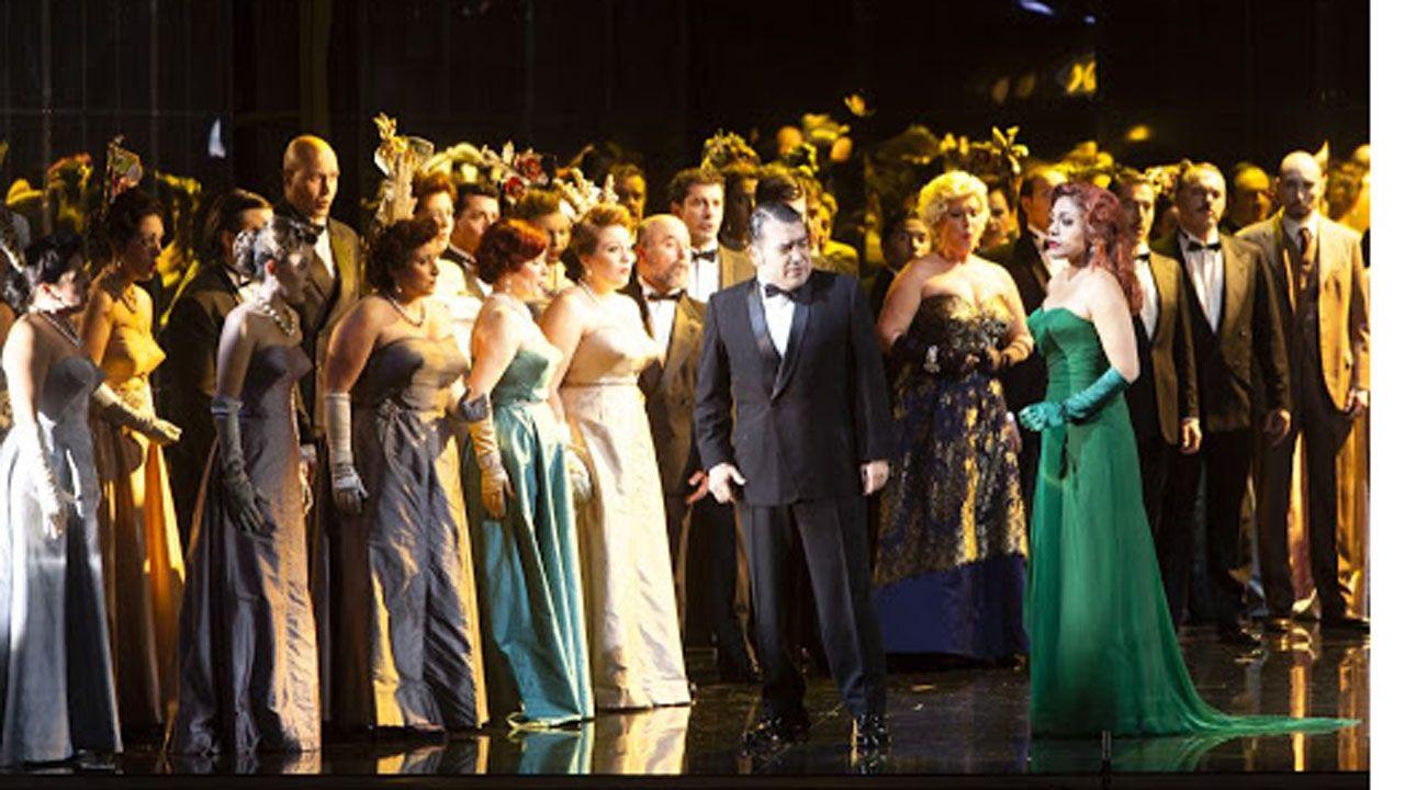 Una representación del festival de la ópera de Oviedo en el teatro Campoamor